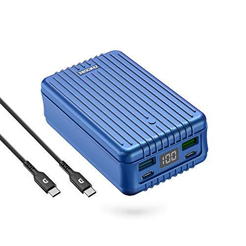 Zendure SuperTank 27,000mAh Powerbank mit dual USB-C PD (100W & 60W) and dual USB-A (15W & 18W), Quick Charge 3.0 Power Bank für MacBook Pro 15/13/12, USB-C Laptops, iPad Pro usw. - Blau