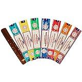 Satya Nag Champa Pack of 7 Variety Sacred Ritual, Eastern Tantra, Dragon's Blood, Nag Champa, Ayurveda, Seven Chakra, Money Matrix Incense Sticks With Wooden Incense Stick Holder