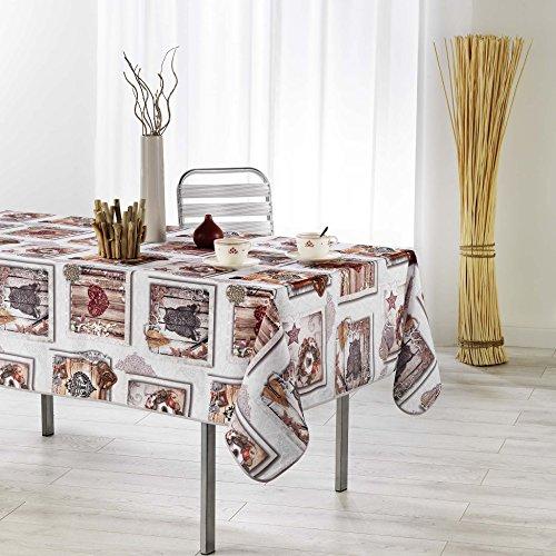 couleur montagne nappe rectangle 150x200cm wood love