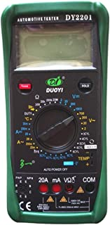 Gtest DY2201 Digital Automotive Multimeter Tach Dwell Angle RPM Temperature Measurement Meter