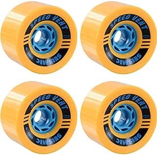 Seismic Skate Systems Speed Vent Mango Defcon/Blue Skateboard Wheels - 85mm 80a (Set of 4)