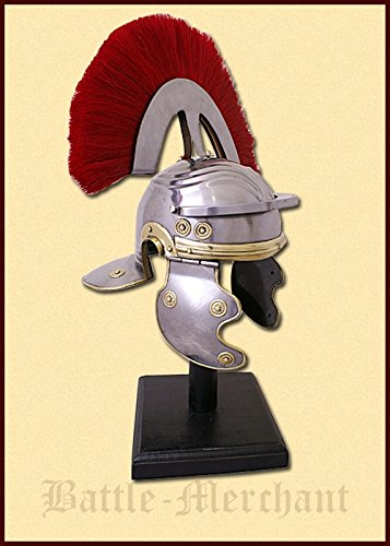 Romeinse officiershelm met helmbusch (Centurio) Decoratieve helm geschikt voor schuimgevechten Ridder-helm LARP Viking