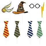 Unique Party - Accesorios de Fotomatón - Diseño de Harry Potter - Conjunto de 8 (59070)