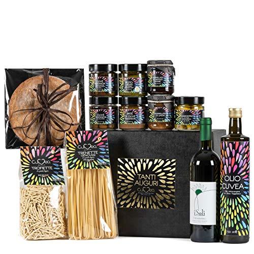 Cuvea - Estuche vino regalo – 100% Vino Italiano Doc – Vermentino DOC, Pigato DOC, Rossese di Dolceacqua DOC - Lote gourmet vino de máxima calidad
