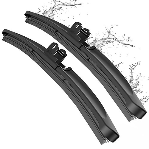 METO T6 Silicone Windshield Wiper Blades, 22 and 22 inches (set of 2)