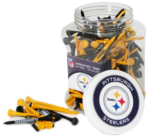 "Team Golf NFL Pittsburgh Steelers 2-3/4"" Golf Tees, 175 Pack, Regulation Size, Multi Team Colors -  637556324511"
