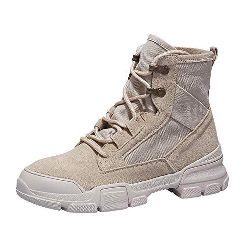 Gtagain Kampfstiefel Einsatzstiefel Bundeswehr - Taktisch Sicherheit Militär Wüste Schuhe Wandern Stiefel Heer Patrouille Arbeit Dschungel Männer Frauen Stiefel (Schuhe ist Kleiner)