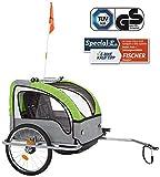 FISCHER Kinder Fahrradanhänger Komfort mit...