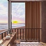Mingfuxin - Cortinas de exterior para proteger del sol, para jardín, patio, cenador, cabaña o porche, opacas, con aislamiento térmico y ojales antioxidantes, una unidad