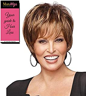 Raquel Welch Wigs Enchant Wig Color RL5/27 GINGER BROWN - Tru2Life Heat Friendly Synthetic Women's Classic Shag Cut Touseled Curls Bundle with MaxWigs Hairloss Booklet