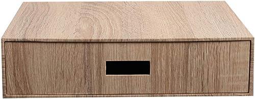QFFL zhuomianshujia Desktop-Aufbewahrungsbox Holzmaserung-Papierkassette Typ Schreibwaren auf dem Schreibtisch-Aufbewahrungsbox-Ordner Schreibtisch-Aufbewahrungsbox Bücherregale