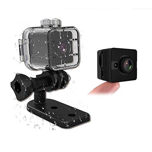 Pawaca Impermeabile Mini videocamera SQ12Sport Action Camera HD Night Vision 1080p DV Video registratore Auto DVR rilevazione di Movimento a infrarossi per Bicicletta Moto Sci Diving Snorkeling