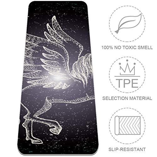 HANDIYA Aufzucht Pegasus Konstellation Yogamatte, rutschfeste Übungsmatte aus hochwertigem Material, ungiftig, Hochleistungsgriff, 61 x 382 cm, Aufzucht Pegasus Sternbild, 32x72 in-80x183 cm