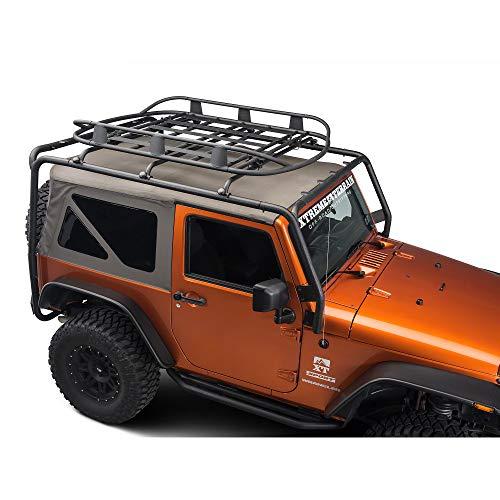 Barricade Roof Rack Basket in Textured Black - for Jeep Wrangler YJ, TJ, JK & JL 1987-2019