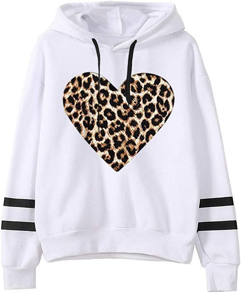Hoodies Sweatshirt Damen Frauen Solide Striped Cute Potato Printing Sweatshirt Beiläufige Lose Langarm Fashion Sweatshirt Pullover Hoodies Tops Z1 Weiß