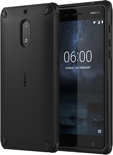 Nokia Rugged Impact Case CC-501 custodia per cellulare Nero – Custodie per cellulari (Custodia, Nokia, 6, Nero)