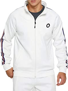 Men Tracksuit Set Full-Zip Sweatshirt Jogger Sweatpants Warm Sports Suit Gym Training Wear