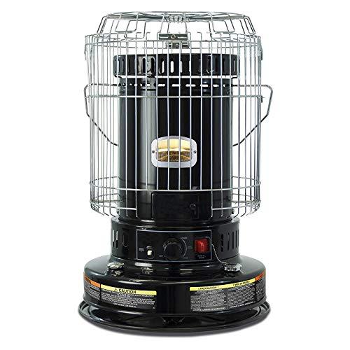 23,800 BTU Portable Kerosene Convection Heater, Indoor Kerosene Space Heaters, for Home Camping (Black)