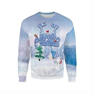 AHJSN Men Women S-4xl Santa Claus Christmas Novelty Ugly Christmas Sweater Snowman 3d Printing Hooded Sweater 4XL 1