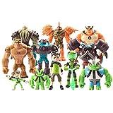 LuLezon Juego de 11 Ben 10: Alien Supremacy Figura de acción Juguetes PVC muñeca Colecciones Juegos de Juguetes 4-13 cm