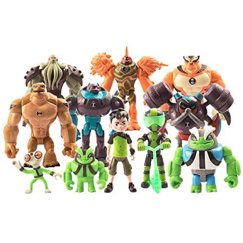 LuLezon Set di 11 Ben 10: Alien Supremacy Giocattoli per Action Figure Collezioni di Giocattoli in PVC Set di Giocattoli 4-13 cm