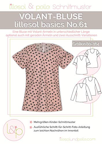 Lillesol & Pelle Schnittmuster basics No61 Volant-Bluse Papierschnittmuster