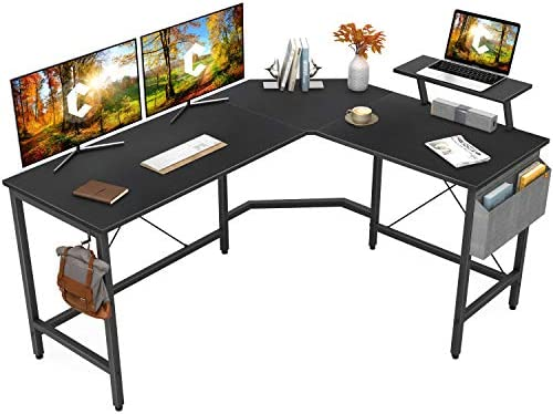 Cubiker Modern L Shaped Computer Office Desk Corner Gaming Desk with Monitor Stand Home Office product image