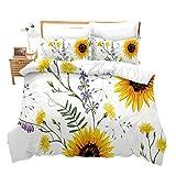 Loussiesd - Juego de ropa de cama con cremallera, diseño de playa y...