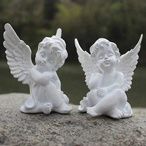 TYX Statuen Kopf Skulpturen 1 Stück/Set Amor Engel Skulptur Kunst Amoretto Statue Harz Handwerk Römische Mythologie Wohnzimmer Dekor Hochzeitsgeschenke