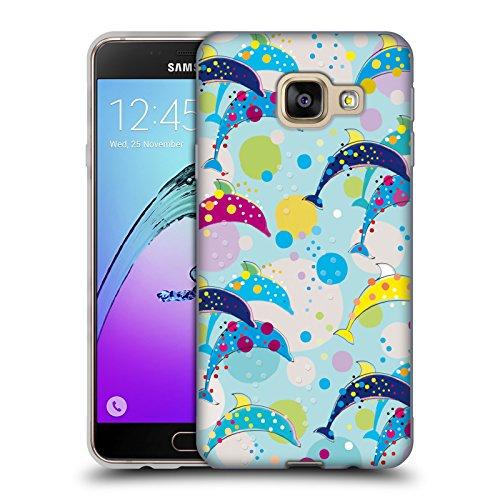 Head Case Designs Offizielle Turnowsky Delfin Tanz Anna B Soft Gel Huelle kompatibel mit Samsung Galaxy A3 (2016)