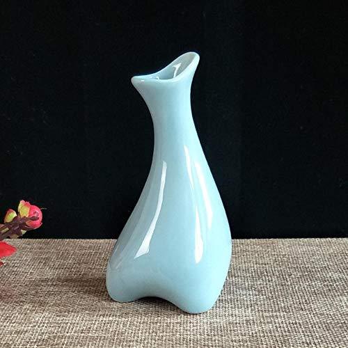 XCVB bloempot van keramiek, klein, handgemaakt, eenvoudig ontwerp voor slaapkamer, woonkamer, bureau
