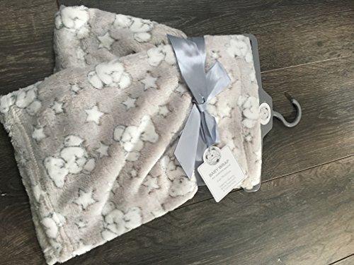 Bébé Polaire Wrap Gris et blanc Teddies + étoiles