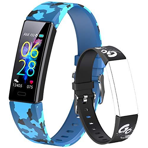 Dwfit Fitness Tracker Smartwatch Orologio Bambino Bambina Uomo Donna,Contapassi Smartwatch Activity Tracker Sportivo Impermeabile,Cardiofrequenzimetro da Polso Sonno Contapassi Calorie per Android iOS