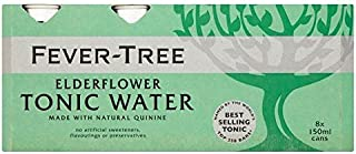 Fever-Tree Elderflower Tonic Water Cans - 8 x 150ml (40.58fl oz)