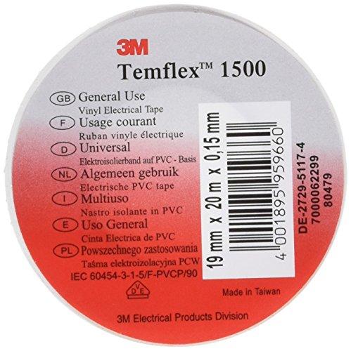 Temflex D3M3892735 - Cinta aislante, color blanco