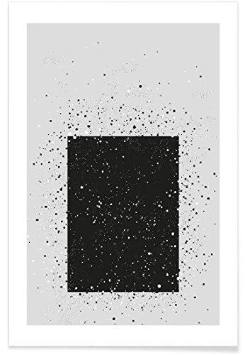 """JUNIQE® Abstrakt & Geometrisch Schwarz & Weiß Poster 60x90cm - Design """"Salz Und Pfeffer"""" entworfen von Sarah Bühler"""