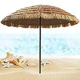 XINGG Thatch Patio Tiki Stroh Hula Strandschirm, Tragbarer Hawaiianischer Sonnenschirm, Knickbar Gartentischschirm Im Freien, Für Außenterrasse Patio Sonnenschutz