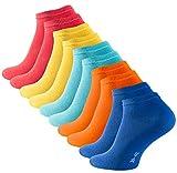 STARK SOUL 10 Paar Essentials Sneaker Socken, Baumwolle, Fun Colors, Gr. 39-42