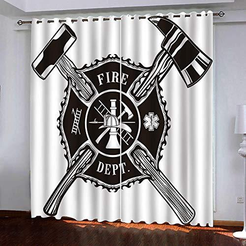 ZCFGG Gardinen Blickdicht 3D Hammer Verdunklungsgardine Ösen Gardinen Vorhänge Blackout Thermisch für Wohnzimmer Schlafzimmer 140x250cm x 2 pcs