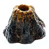 UEETEK - Adorno para acuario, volcán, diseño de burbujas de aire, decoración para pecera, tamaño pequeño
