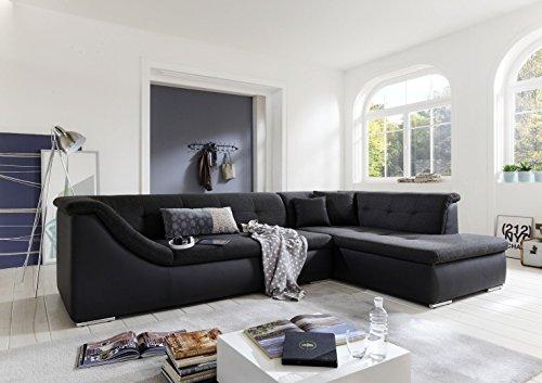 OnlineMöbelBestellen Escobillero sofá Salón Paisaje Kassel con Dormir Couch XXL Forma de L
