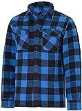 Mil-Tec Outdoor - Camisa de leñador del ejército alemán, color negro/rojo, todo el año, hombre, color negro - negro/azul, tamaño L