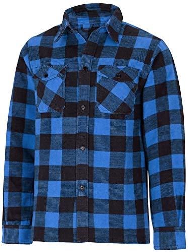 Chemise à carreaux 100% Coton - Bleu / Noir