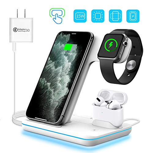 3-in-1 Wireless Apple Charger, Qi-Certified 15W Fast Charging Station $28.89 (52% OFF)