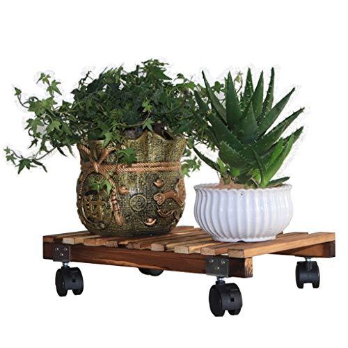 Creative Flower Stand, pot de fleur titulaire plateau étagère poulie salon chambre balcon plante en pot (taille : 25 * 40cm)