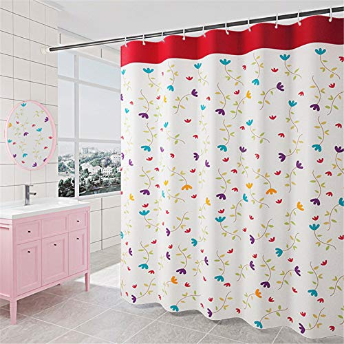 SUUZQK Home Bad Hotel Duschvorhang Wasserdicht Dicken Polyester Stoff Bad Duschvorhang Nicht Schimmeln Oder Verblassen 300x200cm(WxH)