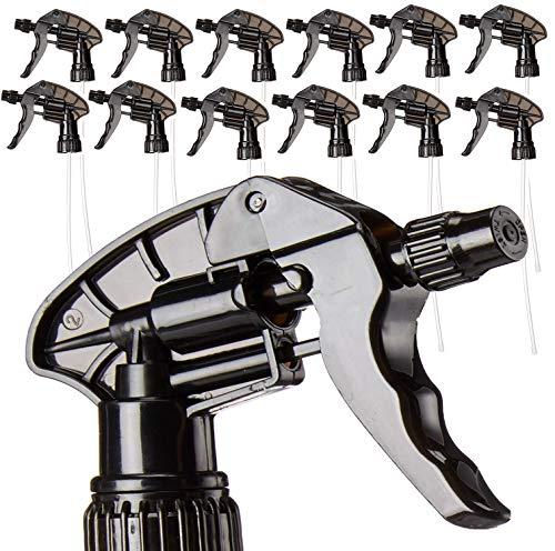 Replacement Trigger Sprayers - Spray Nozzles Chemical Resistant Viton Spray Head - HIGH CAPACITY Chemical Resistant for 32 oz Spray Bottles - Pumps - Nozzles - Upgraded 2019 Viton Piston!
