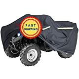 Heavy-Duty, Triple-Waterproofed 4 Wheeler Cover – ATV Cover Four Wheeler Accessories – Rip-Resistant, Night-Reflective ATV Covers w/Advanced Waterproofing, Easy-Access Zipper and Triple Tie-Downs