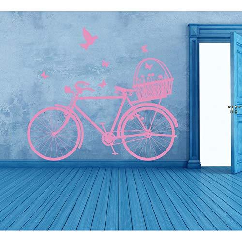 HYLCH Wandaufkleber Fahrrad Wandaufkleber Schlafzimmer Kinderzimmer Schmetterlinge Frühling Wandtattoo Wohnzimmer Dekoration
