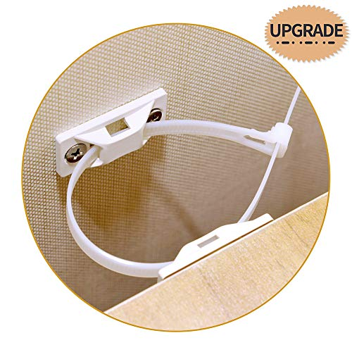 Upgrade Furniture Straps for Baby Safety,Anti-Tip Wall Anchors Kit for Cabinet,Dresser,Bookshelf and TV Stand (10 PACK)